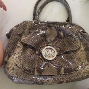 Michael kors snake skin bag